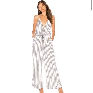 The Jetset Diaries Aries Striped Halter Jumpsuit